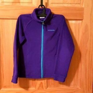 Girls Columbia fleece jacket M (10-12)